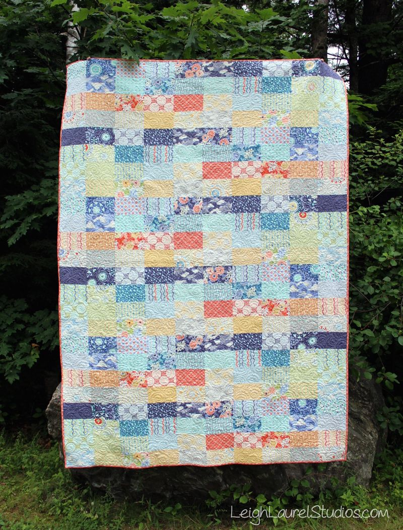 Ebb and Flow quilt pattern by Karin Jordan of Leigh Laurel Studios for Pellon Projects