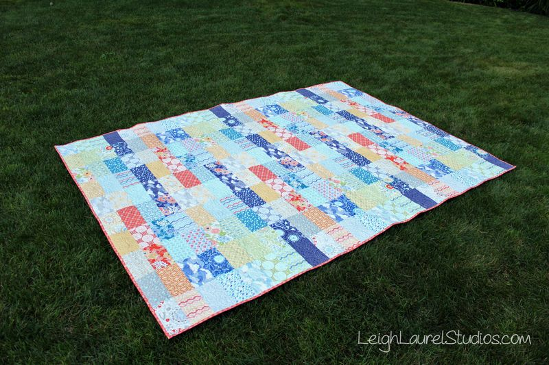 Ebb and Flow - free quilt pattern by Karin Jordan of Leigh Laurel Studios for Pellon Projects