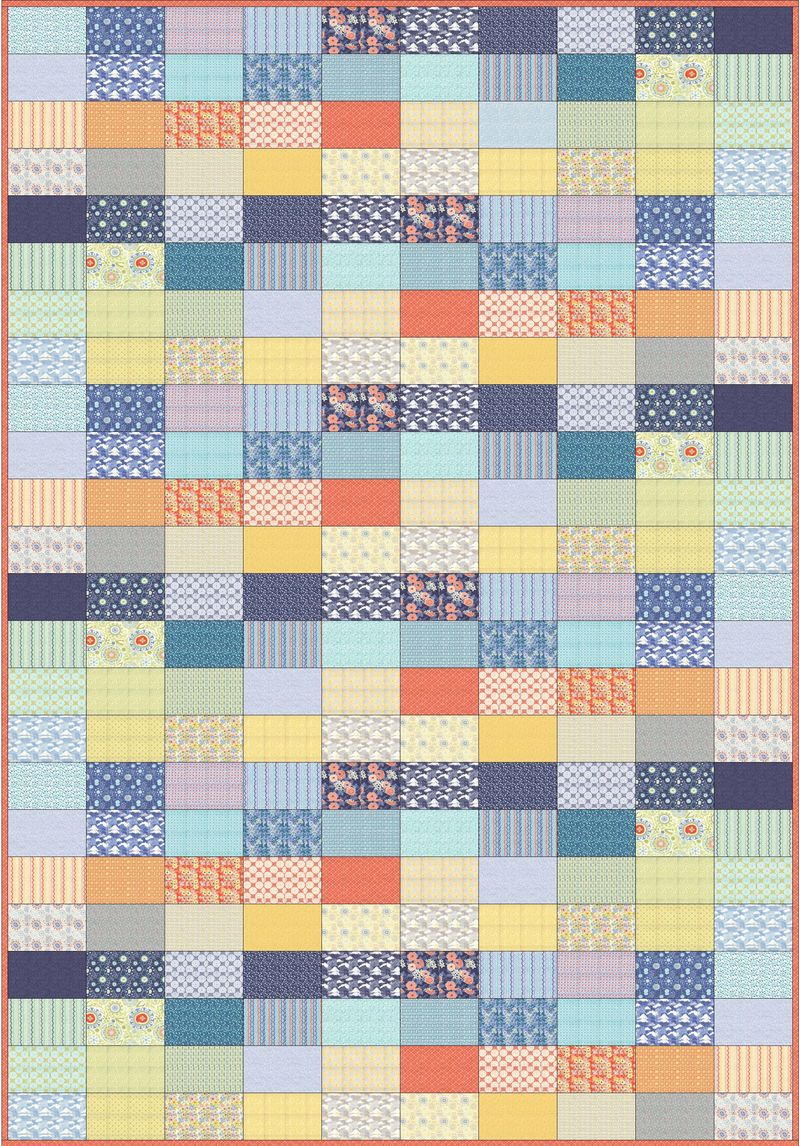Ebb and flow quilt pattern layout by karin jordan