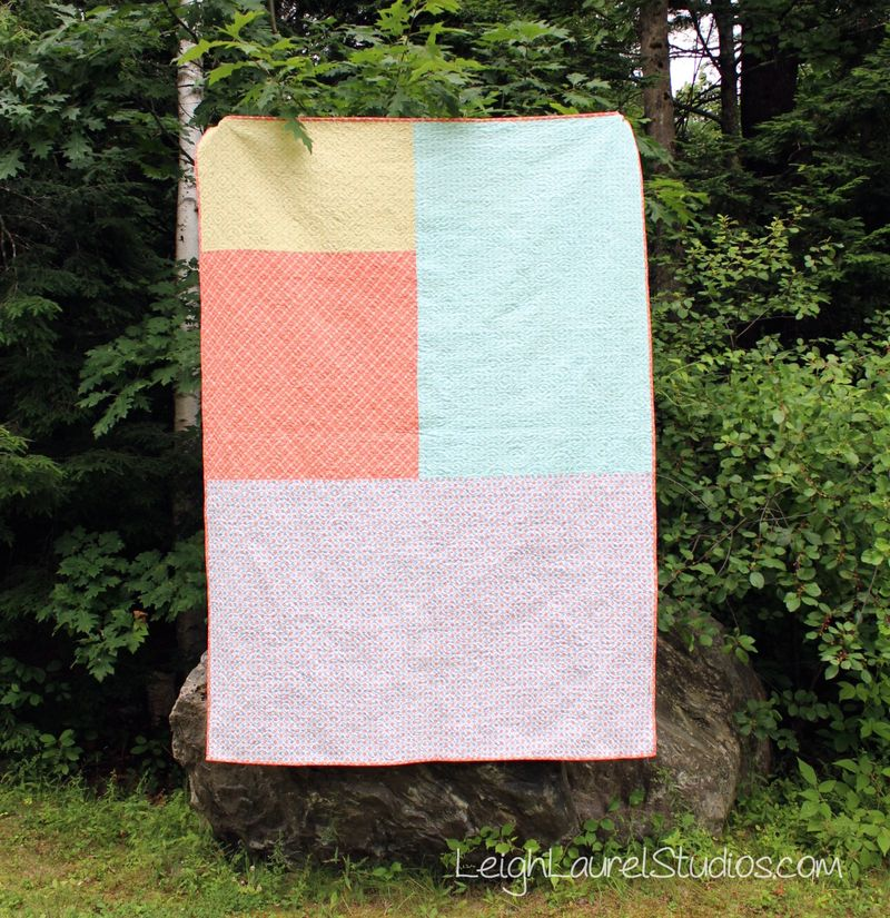 Back of Ebb and Flow quilt by Karin Jordan