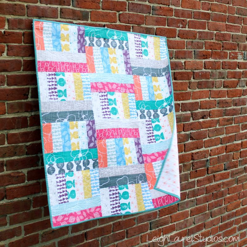Jelly Roll Jam 2 quilt made by Karin Jordan - Leigh Laurel Studios