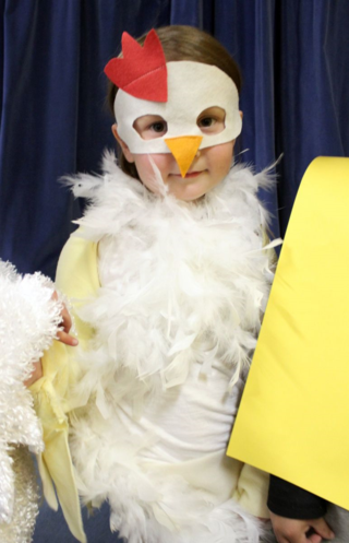 Annabel chicken costume