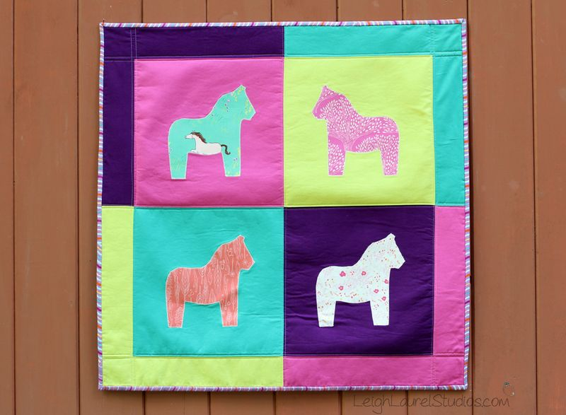 Horse wall hanging by karin jordan - lls blog