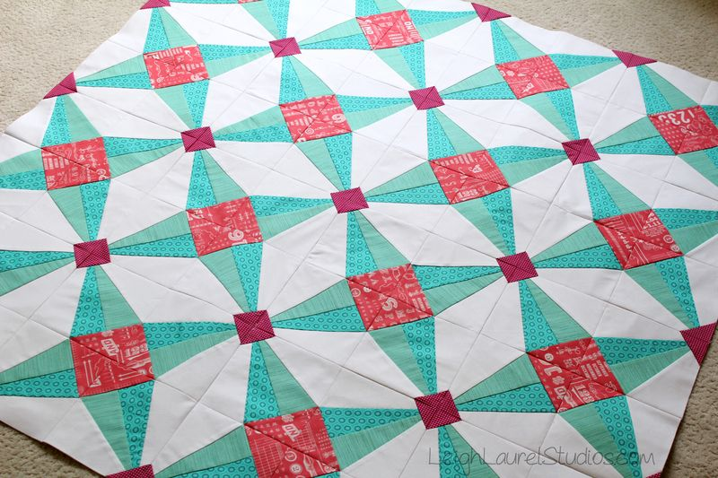 Fruit ninja quilt top by karin jordan of leigh laurel studios