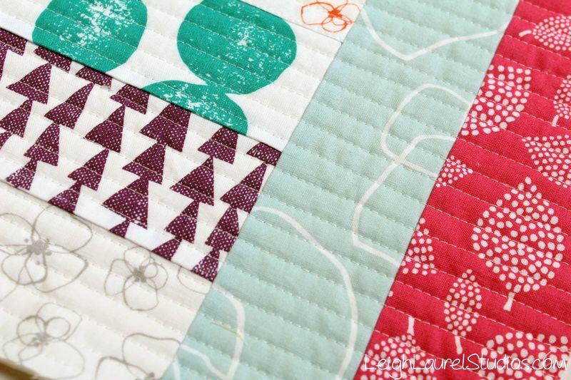 Closeup of Jelly Roll Jam 2 made by Karin Jordan - Leigh Laurel Studios