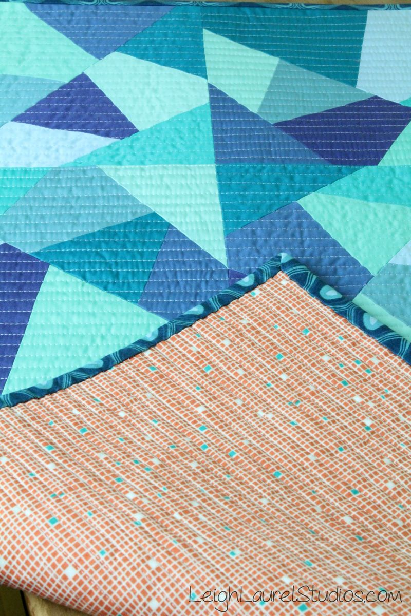 Sea glass table runner by karin jordan - leigh laurel studios