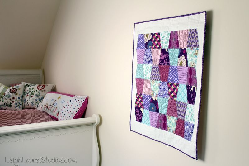 Baby tumbler quilt hanging by karin jordan of leigh laurel