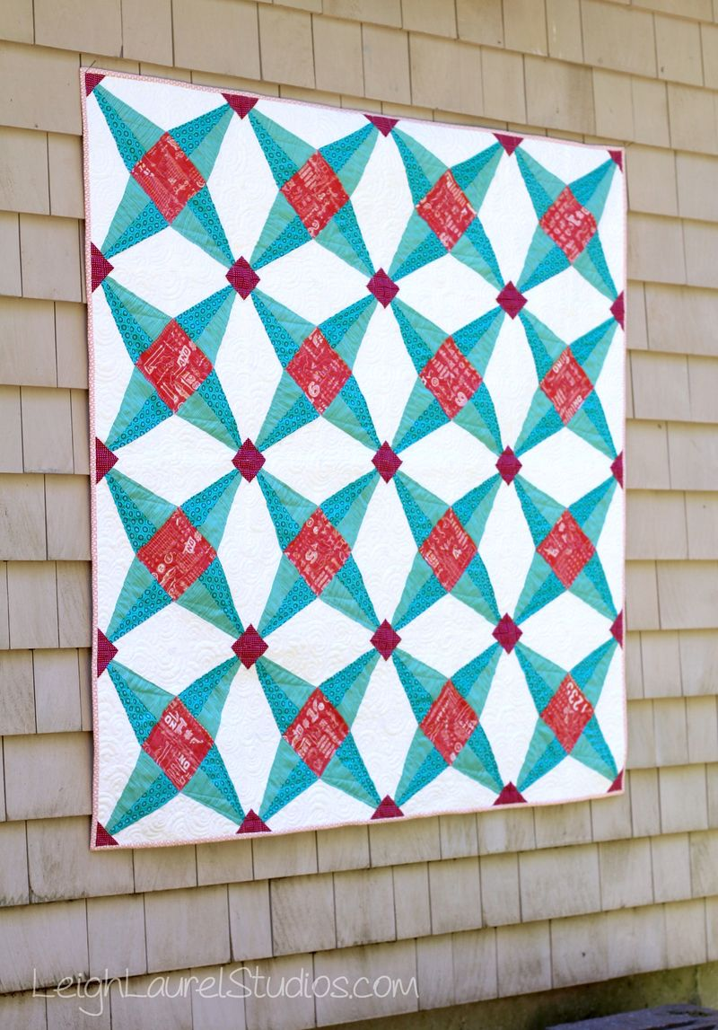 Fruit ninja quilt  by karin jordan of leigh laurel studios
