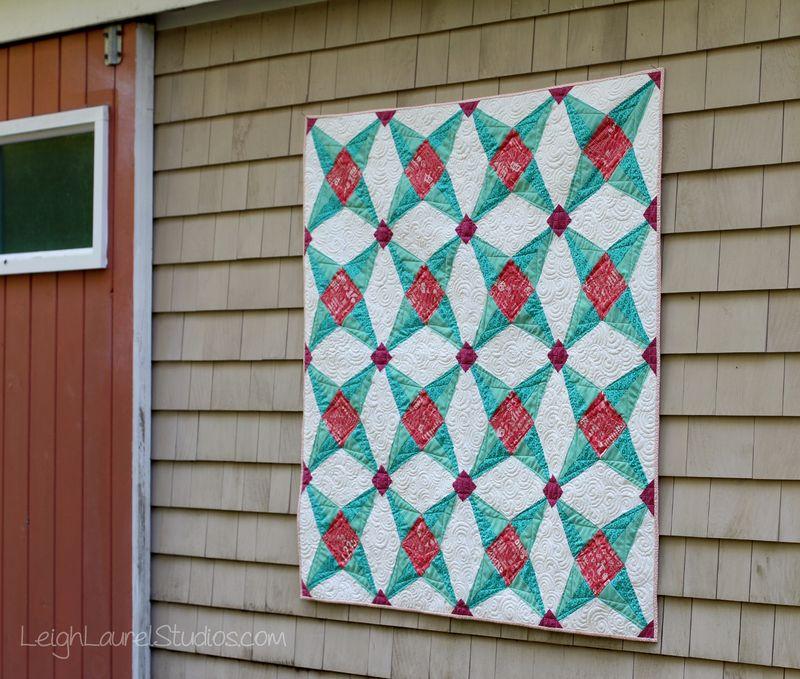 Fruit ninja quilt by karin jordan - free pattern from leigh laurel studios