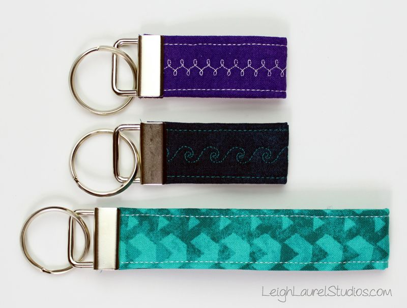 Key fob free pattern by karin jordan of leigh laurel studios for Pellon  Legacy