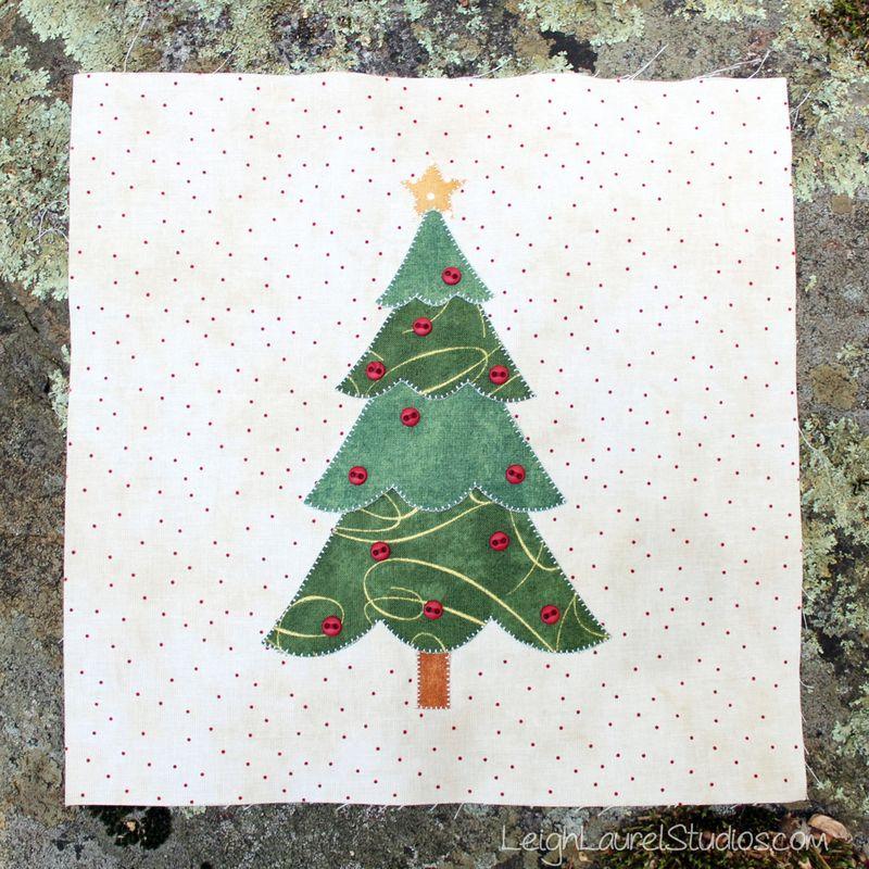 Christmas keepsakes tree block - shabby fabrics - karin jordan