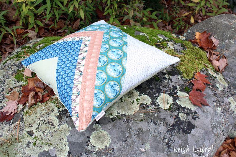 Cascade fabric by jessica levitt for windham- pillow design by karin jordan