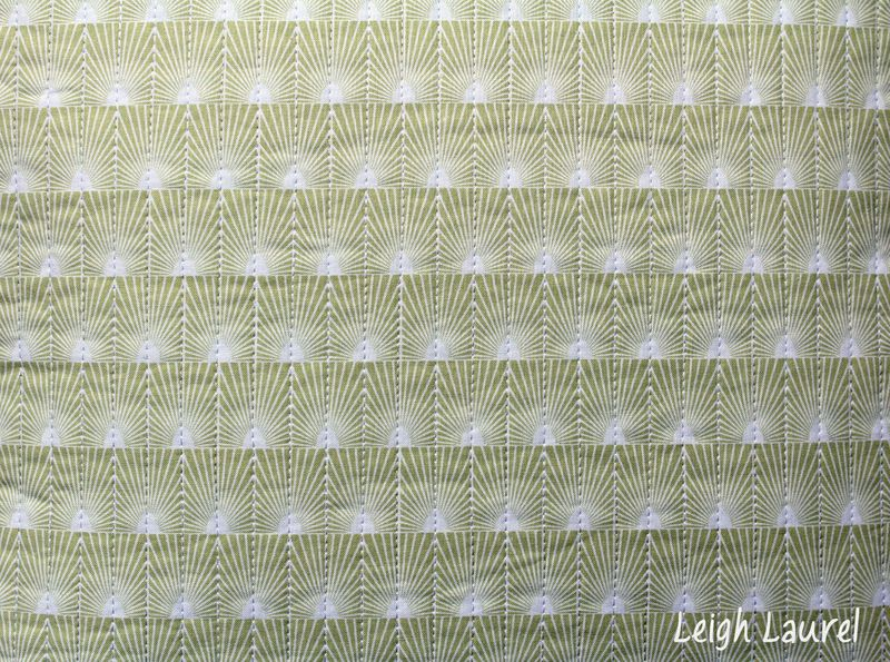 Quilted back of pillow - cascade fabric by jessica levitt for windham - pillow by karin jordan