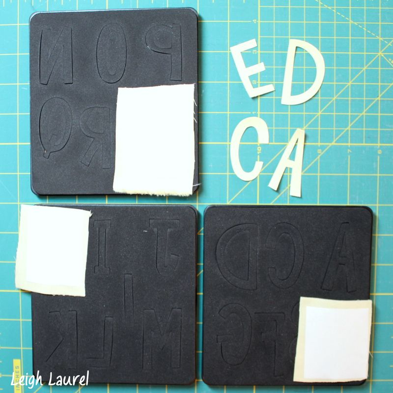 Letters for flannel pet bed - tutorial by karin jordan