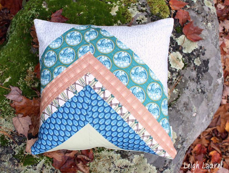 cascade pillow - fabric by jessica levitt for windham - pillow by karin jordan