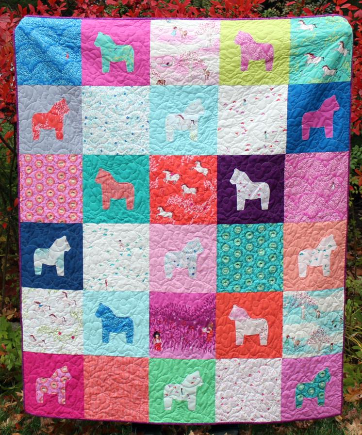 Dala horse quilt by karin jordan of leigh laurel - a sizzix tutorial