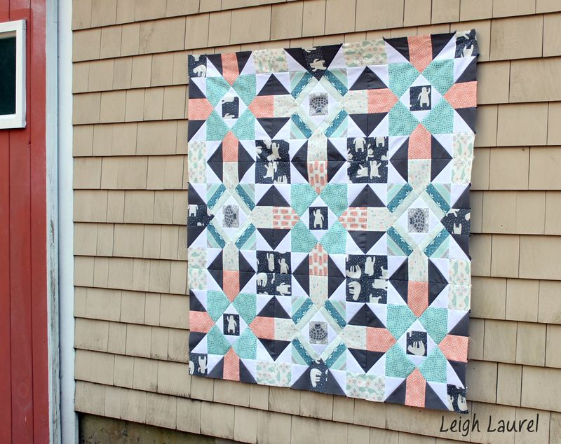 Fair isle quilt 5 by karin jordan