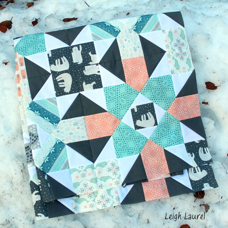 Fair isle quilt in the snow - karin jordan