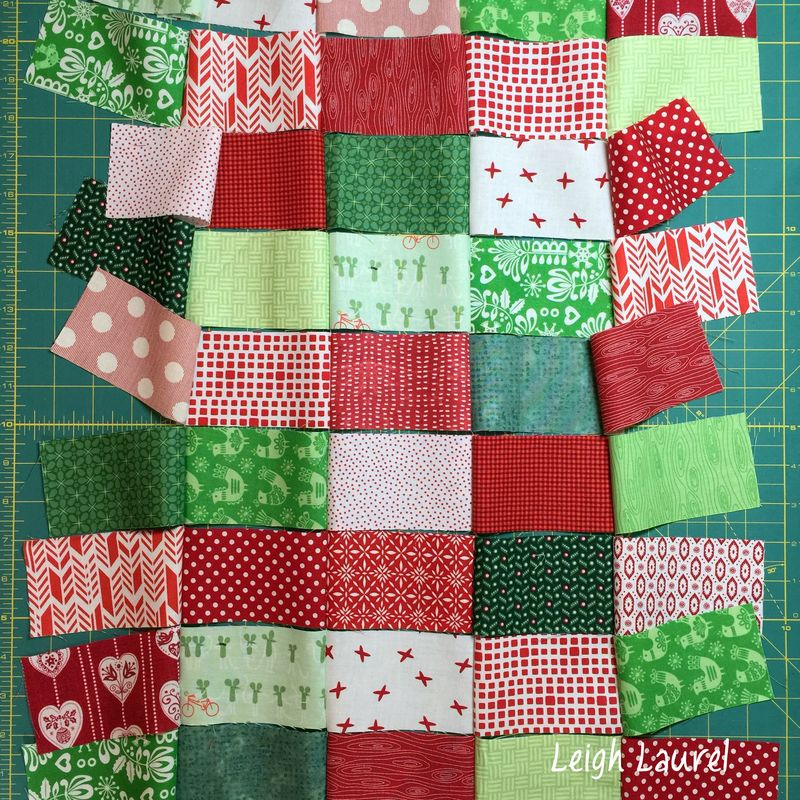 Scrappy christmas pillow C by karin jordan