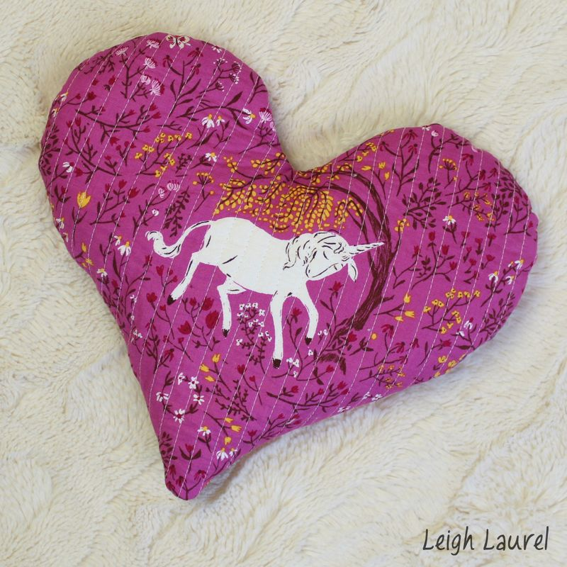Quilted heart heat pack by karin jordan -back