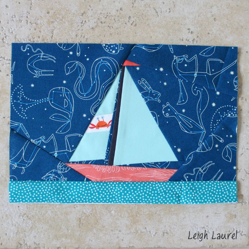 Paper pieced sailboat by karin jordan