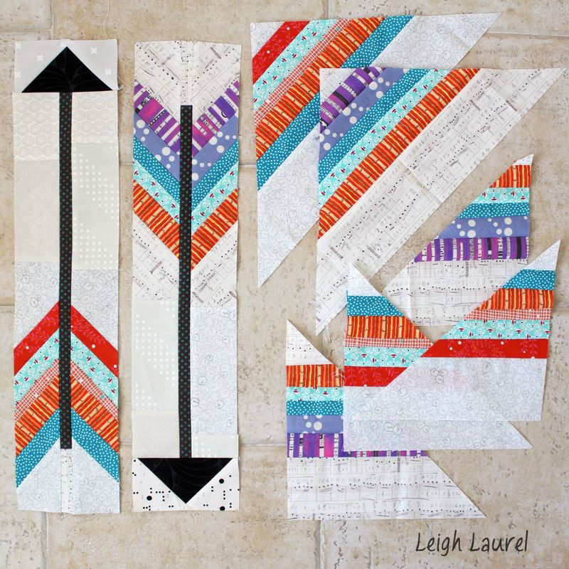Arrow blocks with scraps by karin jordan
