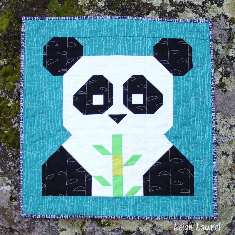 Pandamonium by karin jordan - pattern by FQS