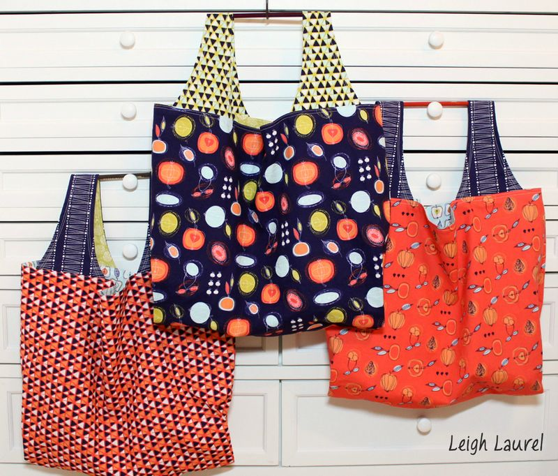 Fruit stand grocery bags by karin jordan