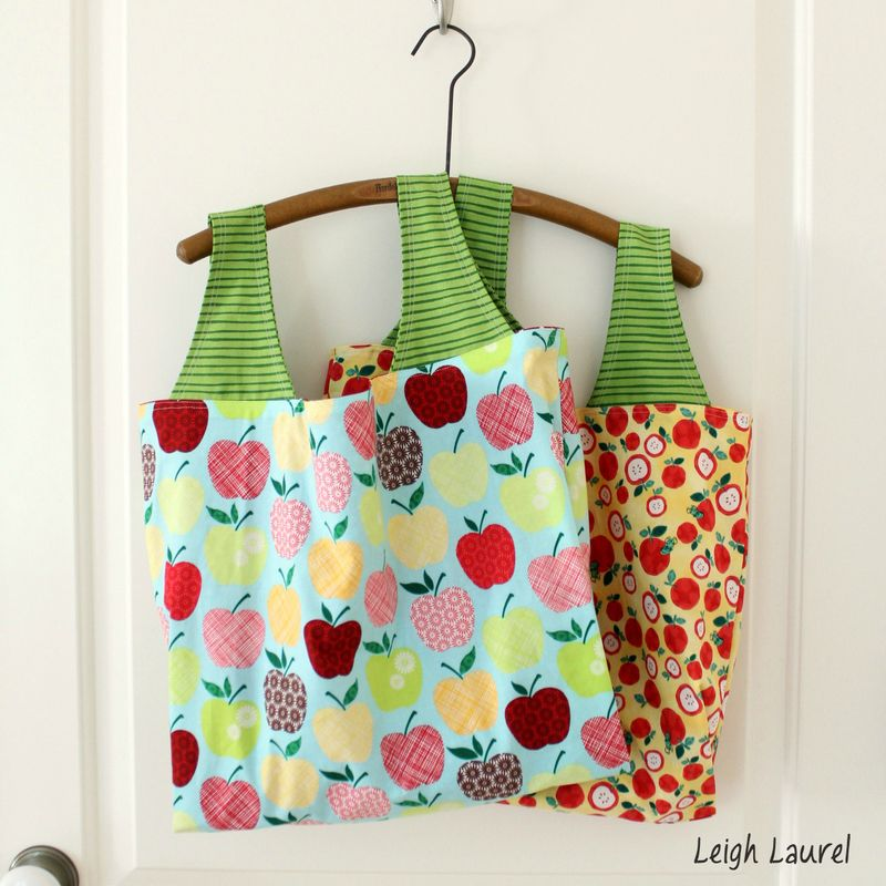 Apple grocery bags by karin jordan