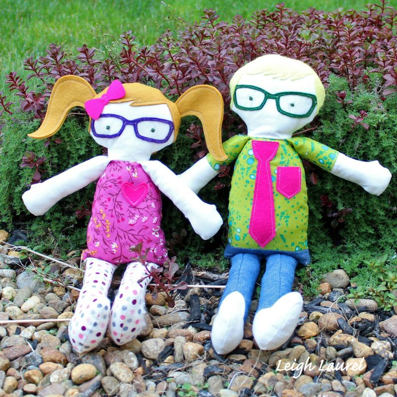 Boy and girl dolls - by Karin Jordan using a Sizzix die by Kid Giddy