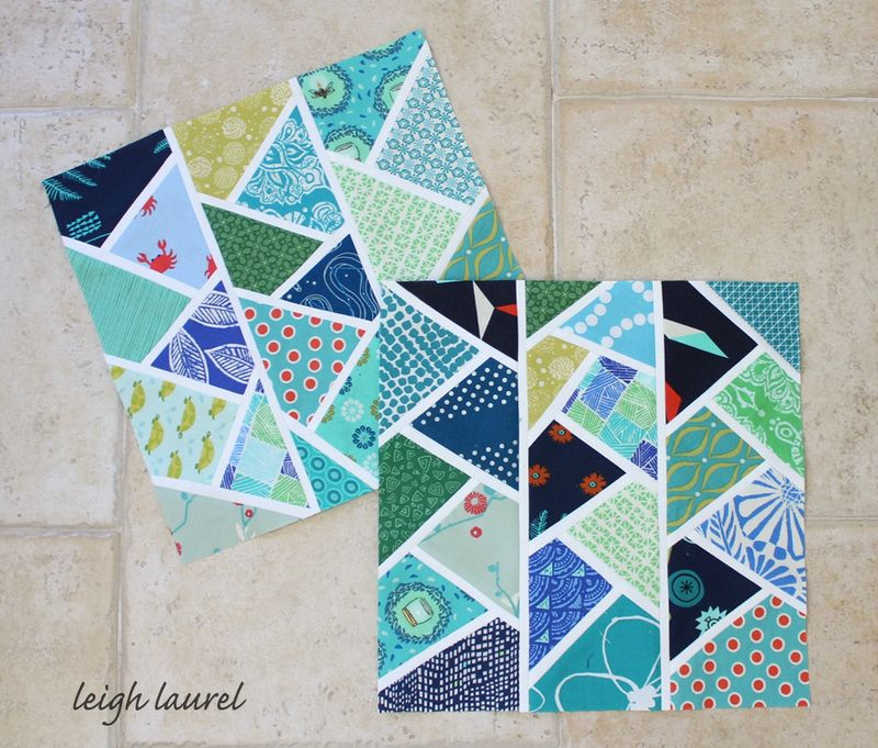 Improv herringbone blocks by karin jordan