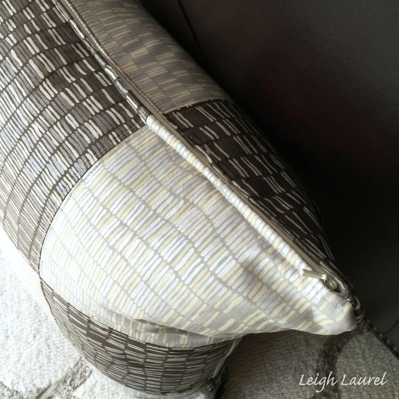Shimmer pillow zipper by karin jordan