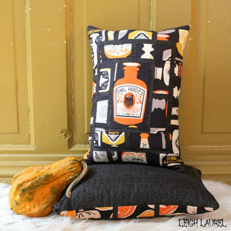 Peek bottle pillow by karin jordan - pattern by melanie tuazon