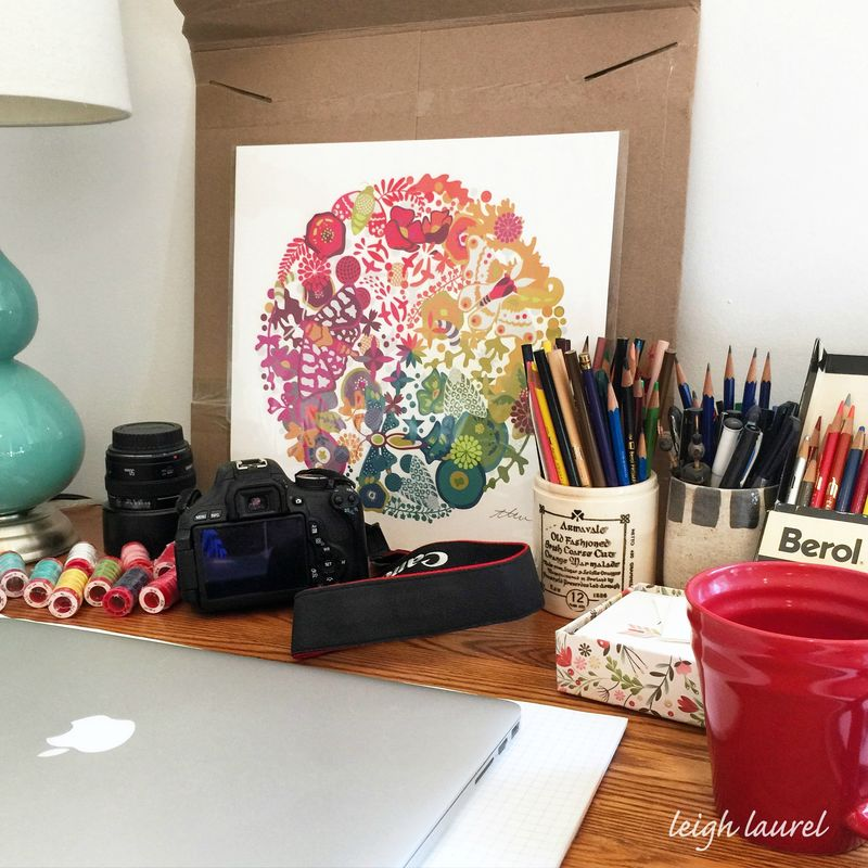 Ag print on desk - karin jordan
