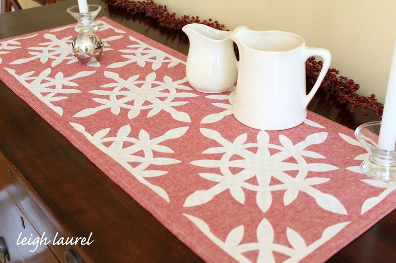 Scandinavian table runner 1 by karin jordan