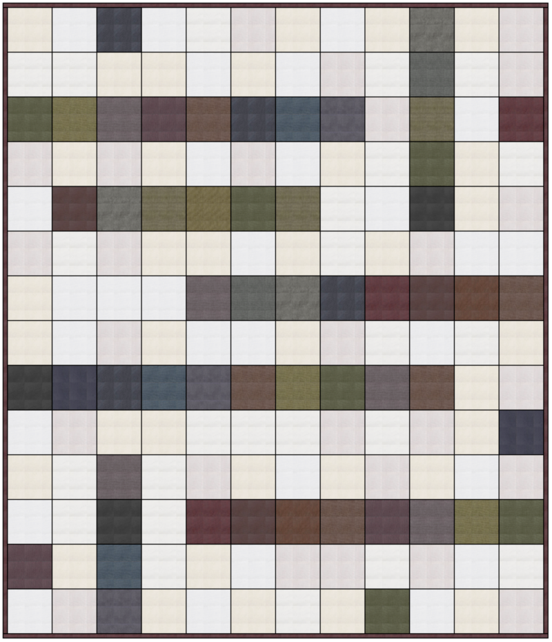 Oakshott crossword quilt layout
