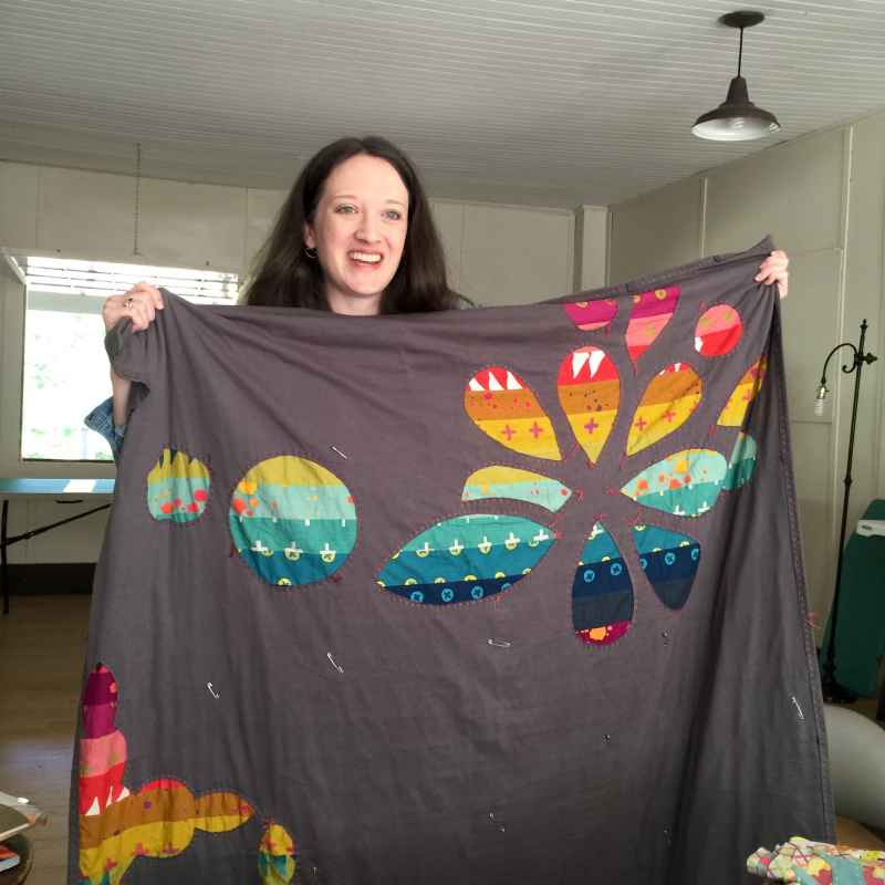 2. Alison with a reverse applique project