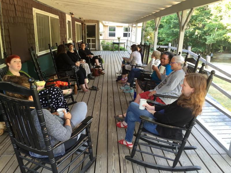 19. The porch at Camp Medomak