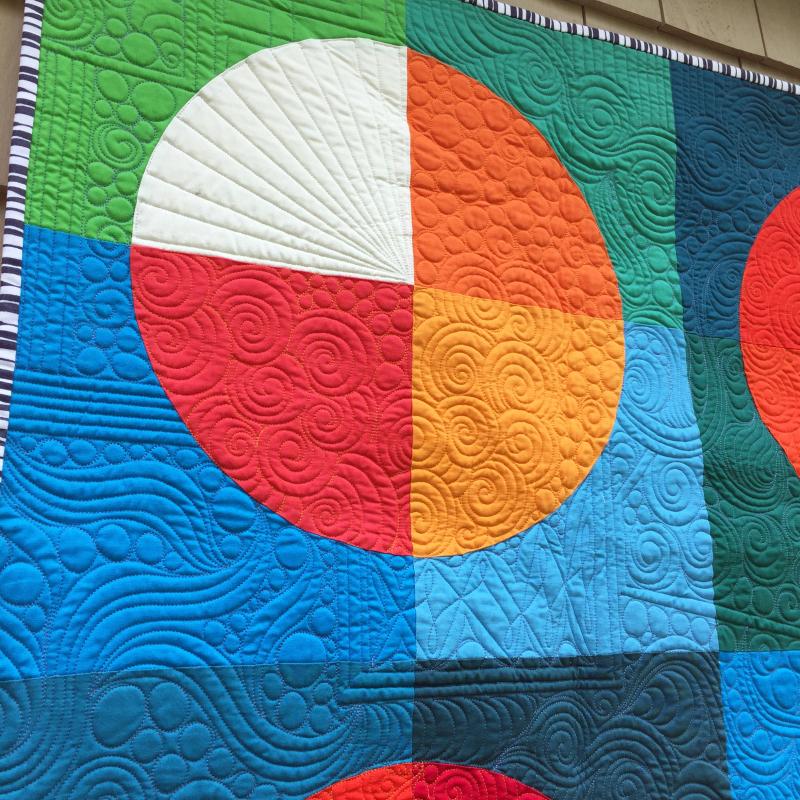 Detail3 of fame quilt by karin jordan