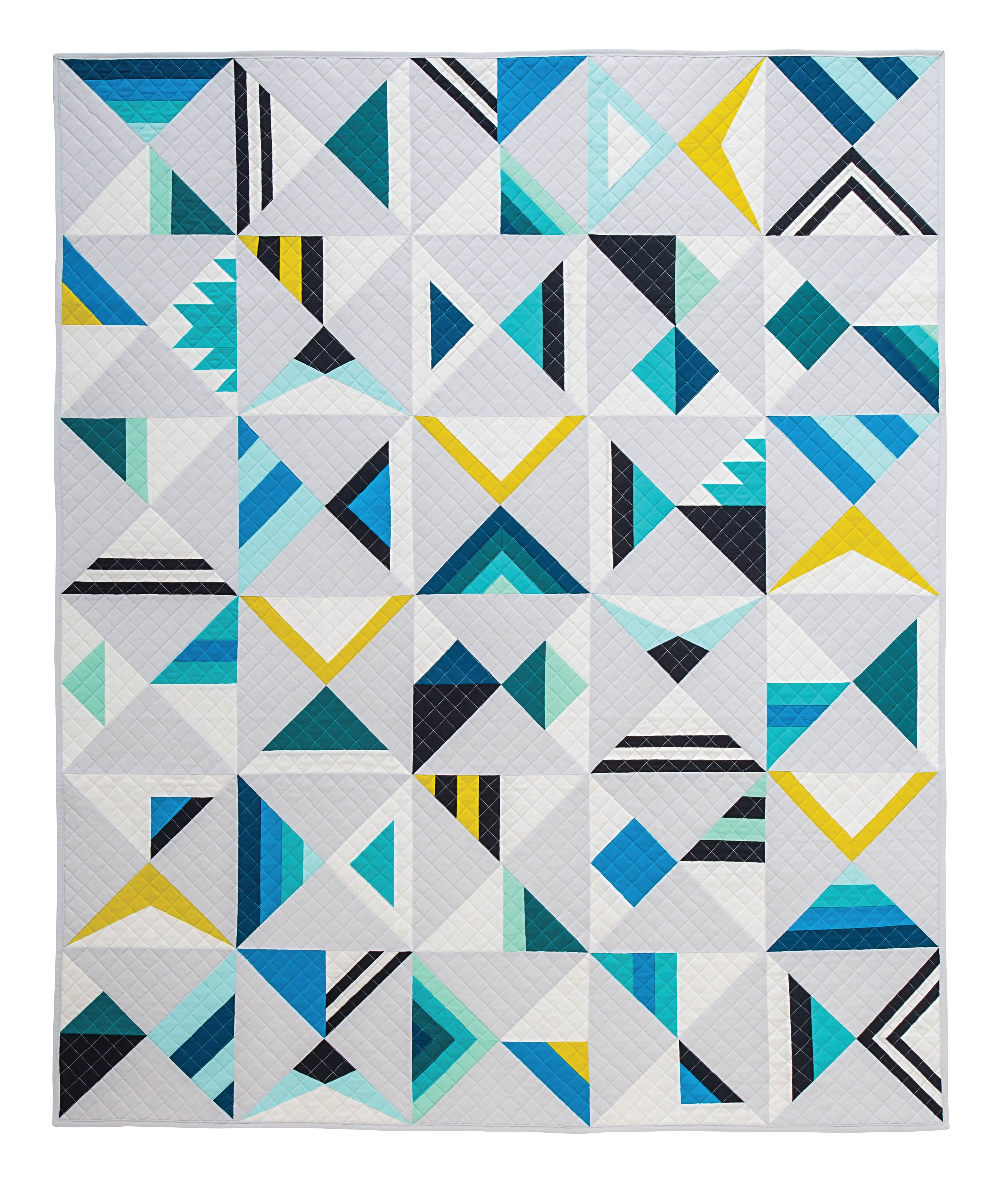 Modern Triangle Quilts Blog Tour Giveaway Karin Jordan Studio