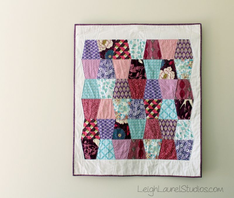 Scrappy baby tumbler quilt made by karin jordan - leigh laurel