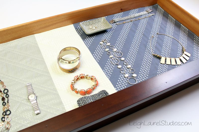 Quilted jewelry drawer liner by karin jordan  leigh laurel studios