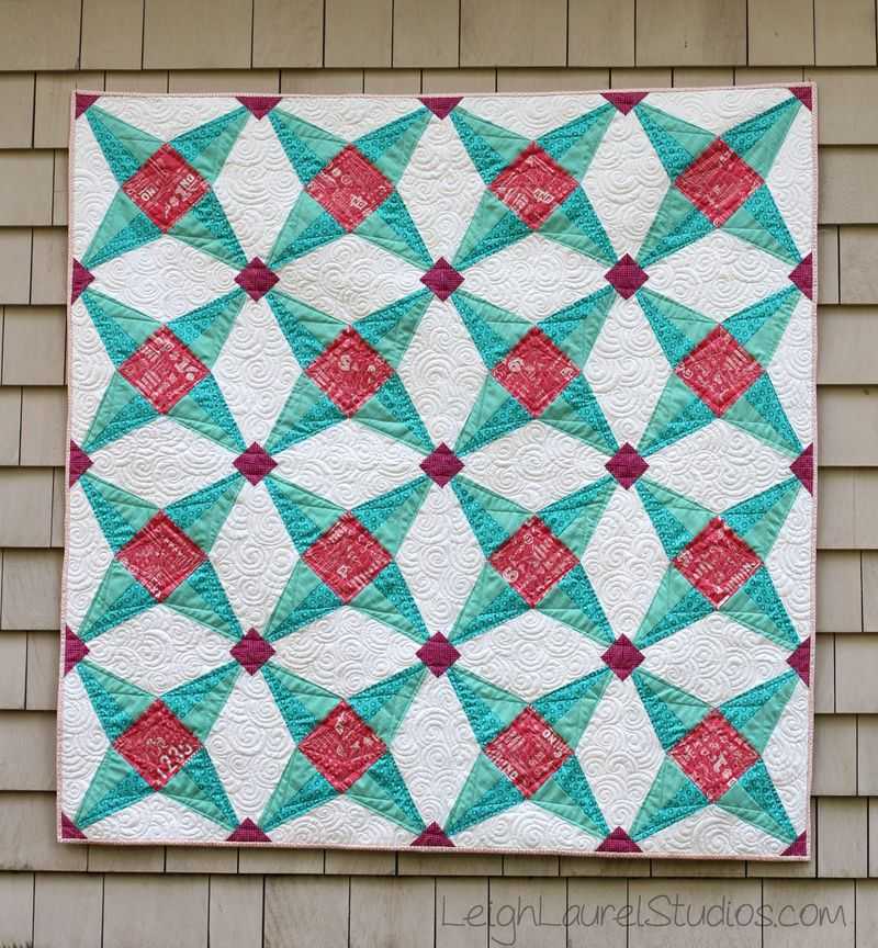 Fruit Ninja quilt pattern by Karin Jordan of Leigh Laurel Studios