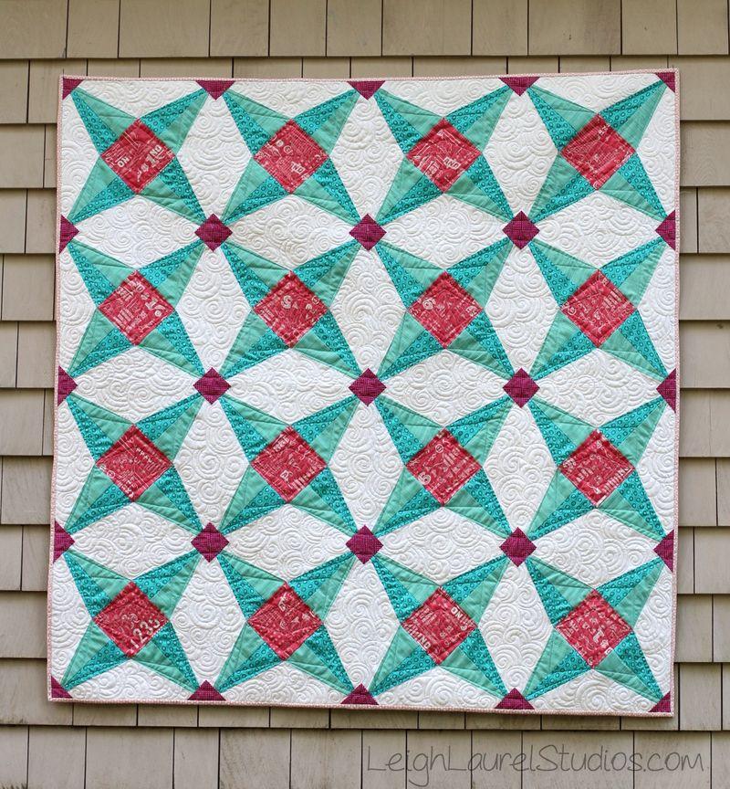 Fruit Ninja quilt pattern by Karin Jordan of Leigh Laurel Studios
