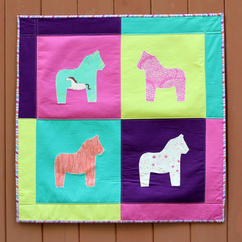 Dala Horse Wall Hanging by Karin Jordan - a Sizzix tutorial - square