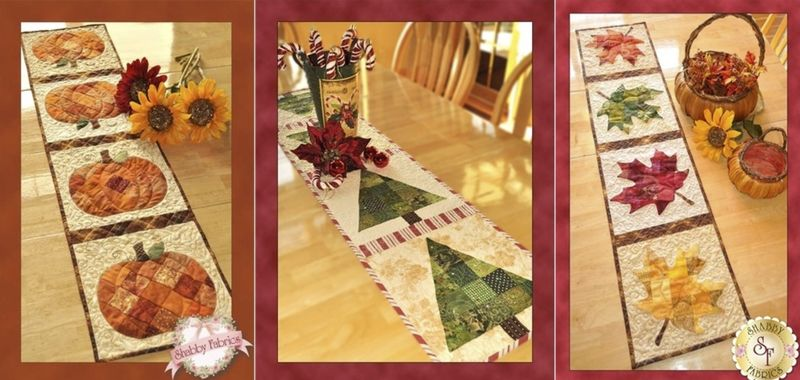 Table runner trio - shabby fabrics