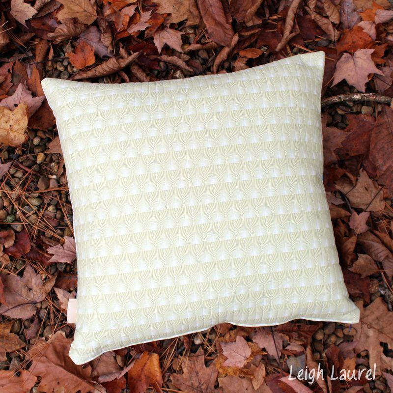 Quilted pillow back - cascade fabric by jessica levitt for windham - pillow design by karin jordan