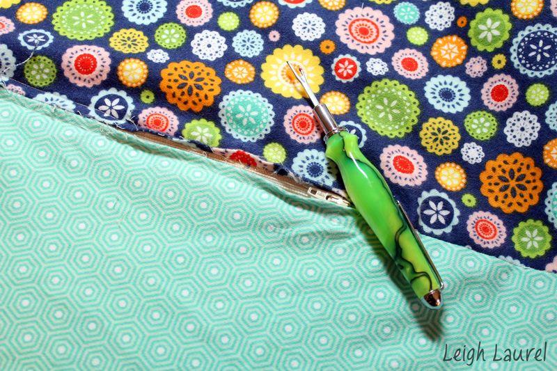 Seam ripping - flannel pet bed tutorial by karin jordan