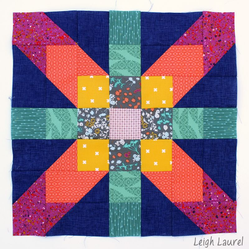 Supernova quilt block by karin jordan