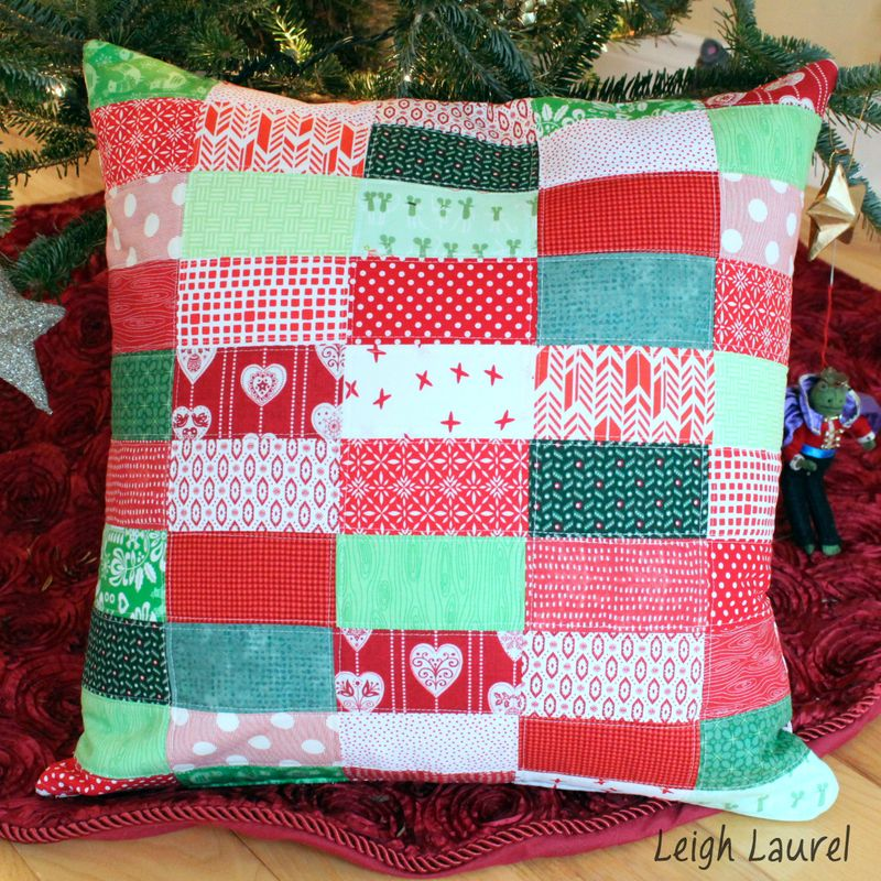 Scrappy christmas pillow 2 by karin jordan